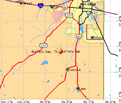 Buffalo Gap, TX map