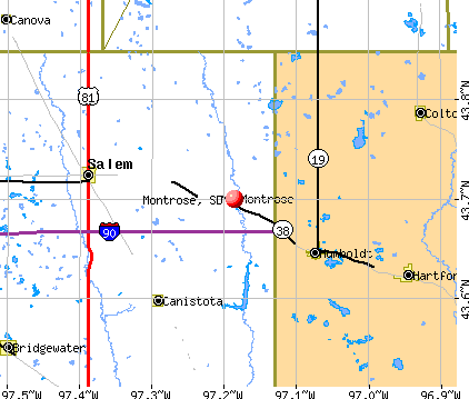Montrose, SD map