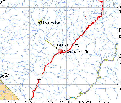 Idaho City, ID map