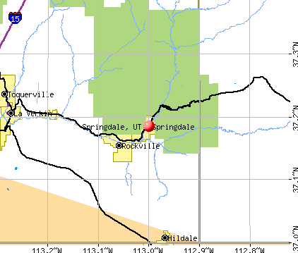 Springdale, UT map