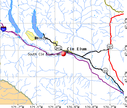 South Cle Elum, WA map
