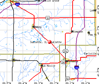 Sublette, IL map