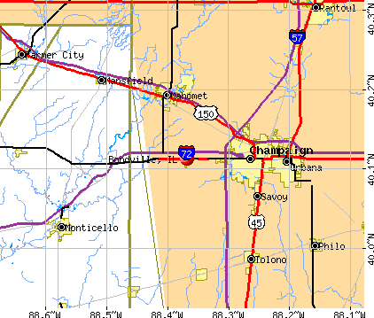 Bondville, IL map