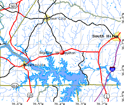 Boydton, VA map