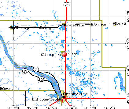 Clinton, MN map