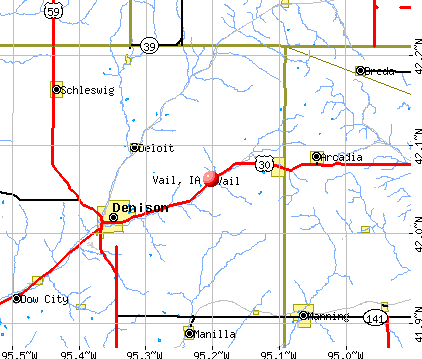 Vail, IA map