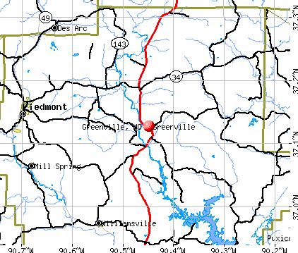 Greenville, MO map