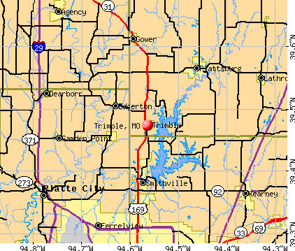 Trimble, MO map