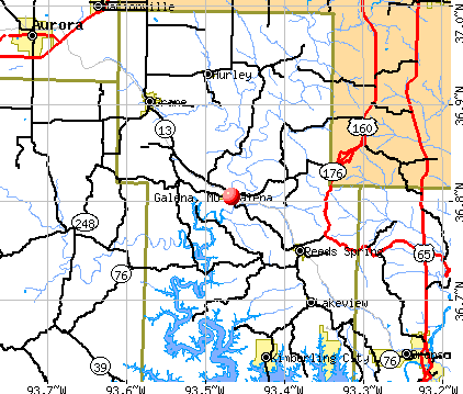 Galena, MO map