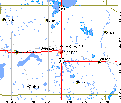Arlington, SD map