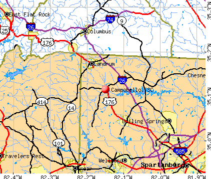 Campobello, SC map