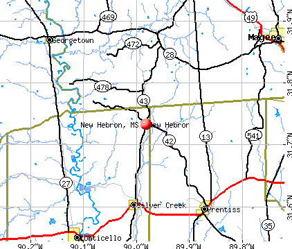 New Hebron, MS map
