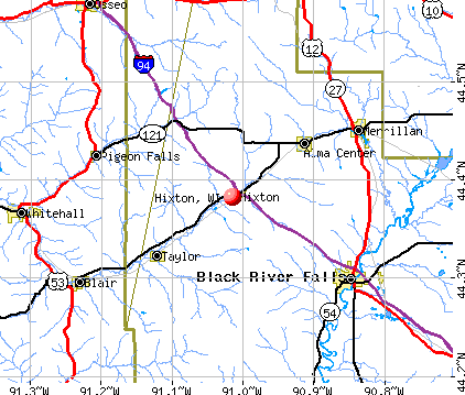Hixton, WI map