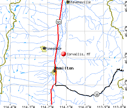 Corvallis Montana MT Profile Population Maps Real - Map of montana with cities