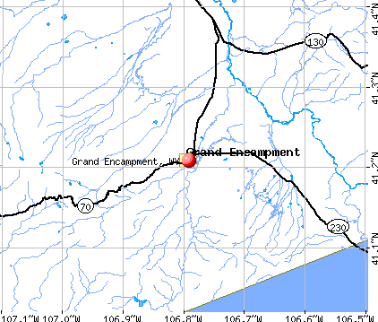 Grand Encampment, WY map