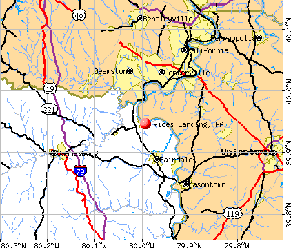 Rices Landing, PA map