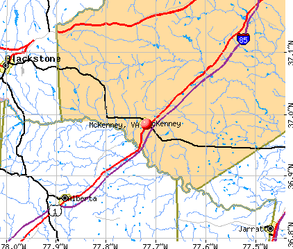 McKenney, VA map