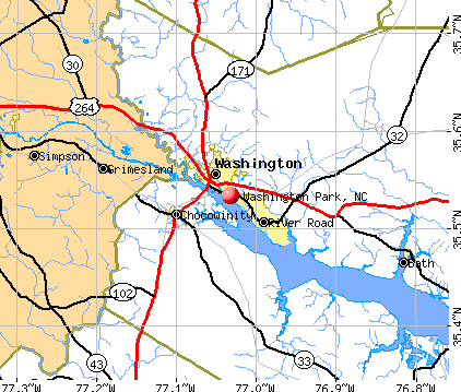 Washington Park, NC map
