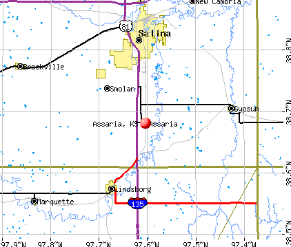 Assaria, KS map