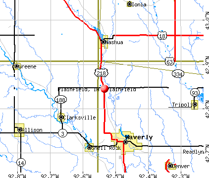 Plainfield, IA map