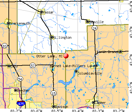 Otter Lake, MI map