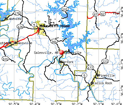 Salesville, AR map