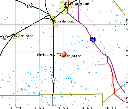 Christine, TX map