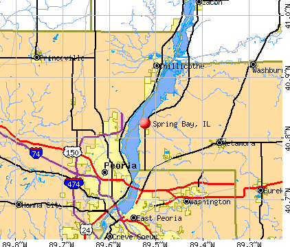 Spring Bay, IL map