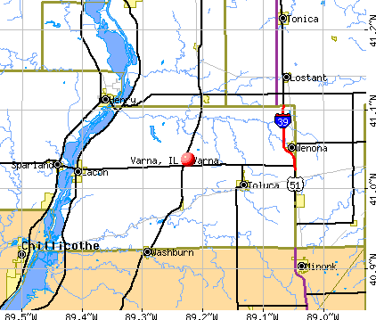 Varna, IL map