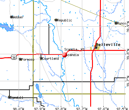 Scandia, KS map