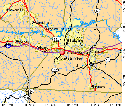 Brookford, NC map