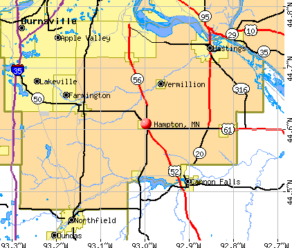 Hampton, MN map