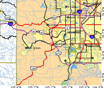 Morrison, CO map