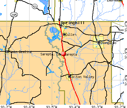 Sarepta, LA map