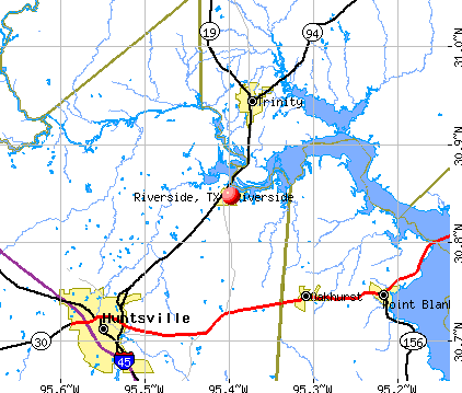 Riverside, TX map
