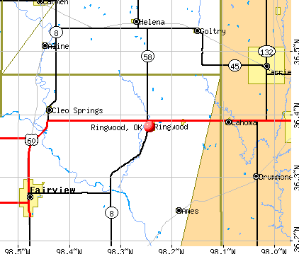 Ringwood, OK map