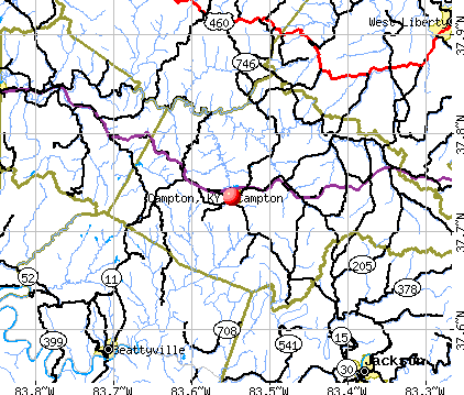 Campton, KY map