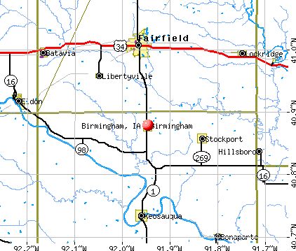 Birmingham, IA map