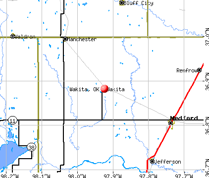 Wakita, OK map