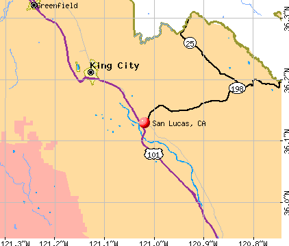 San Lucas, CA map