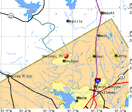Gholson, TX map