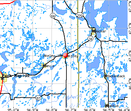 Akeley, MN map