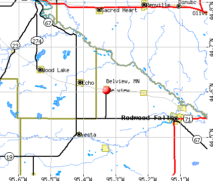 Belview, MN map