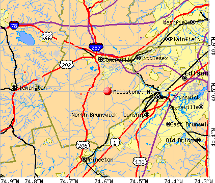 Millstone, NJ map