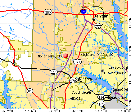 Northlake, TX map
