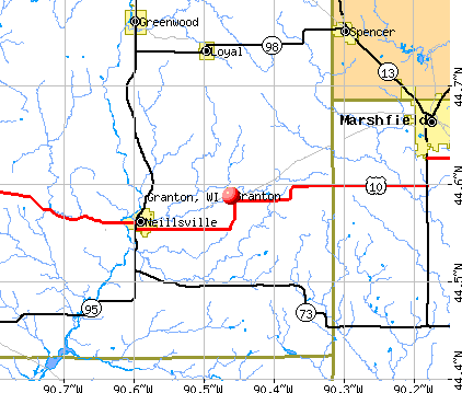 Granton, WI map