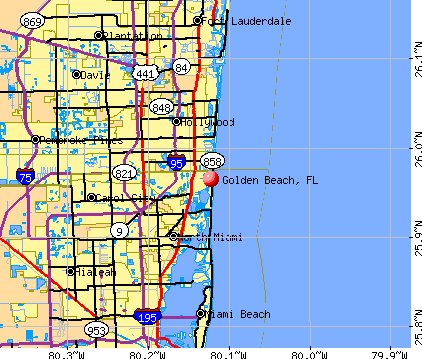 Golden Beach, FL map