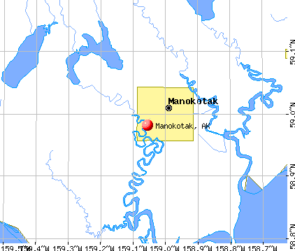 Manokotak, AK map