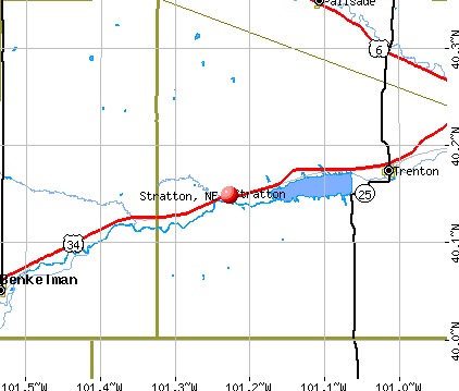 Stratton, NE map