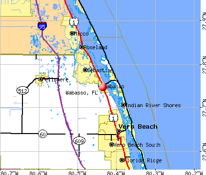 Wabasso, FL map